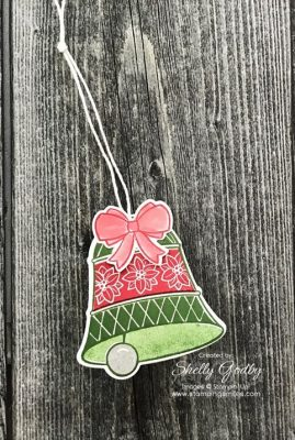 Make your own Christmas gift tags with the Stampin' Up! Bells are Ringing www.stampingsmiles.com