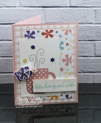 Handmade friendship card idea with the Stampin' Up! Rise & Shine Stamp Set