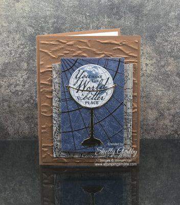 Handmade masculine card idea with Stampin' Up! Beautiful World