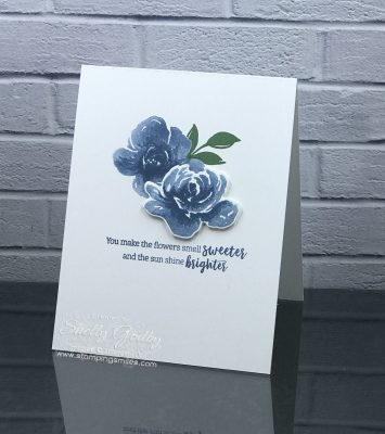 Clean and simple Stampin' Up! All Things Fabulous Card by Shelly Godby of www.stampingsmiles.com