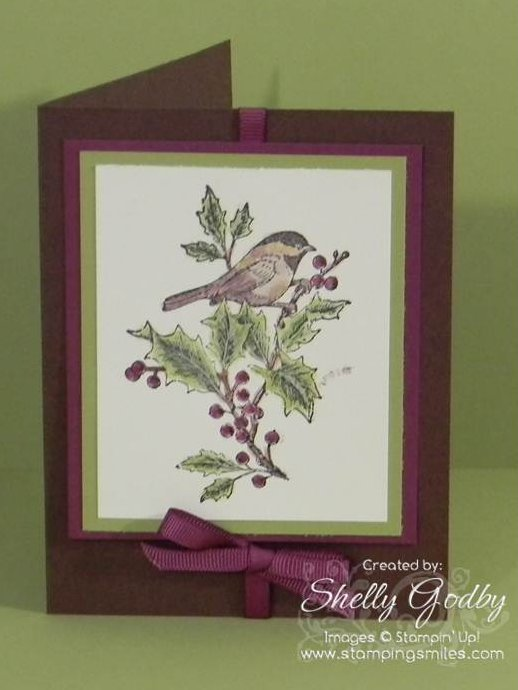 handmade christmas greeting card idea with stampin up beautiful season stamp set - Handmade Christmas Cards Ideas